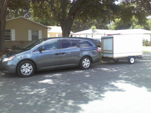 Stowed camper small